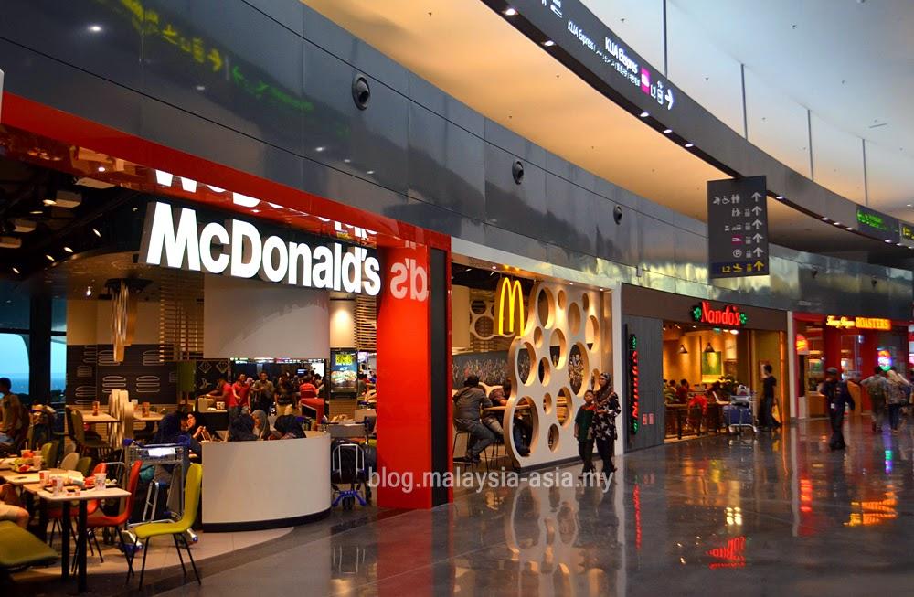 fast food shops at klia2