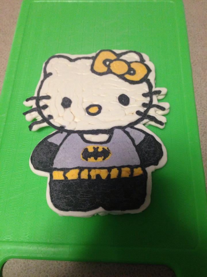 Hello Kitty Batman Cake Topper by Courtney Pelucch