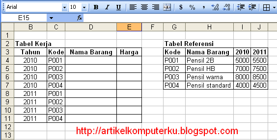 fungsi IF VLOOKUP