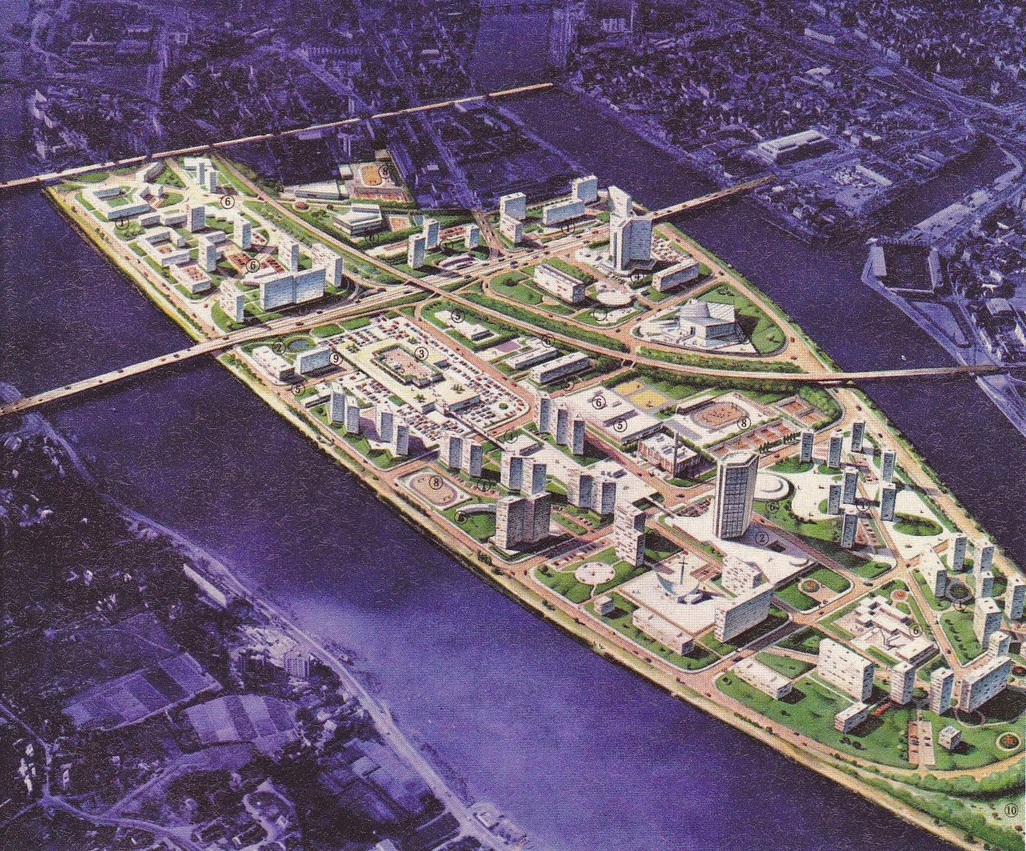 Nantes la ville d 39 apr s guerre nantes projet urbain ile for Piscine ile gloriette nantes