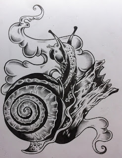 snail, snail tattoo, cincinnati, cincinnati snail, cincinnati tattoo. snail tattoo design