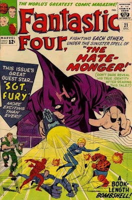 Fantastic Four #21, the first appearance of the Hate-Monger (Adolf Hitler), Nick Fury