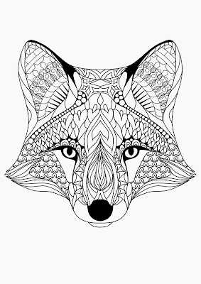 Adult Coloring Pages Foxes