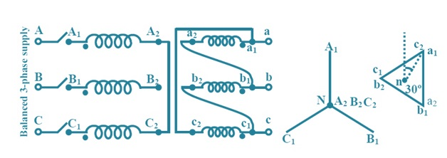 Vector group of 3 phase transformer electrical concepts as primary star ccuart Choice Image