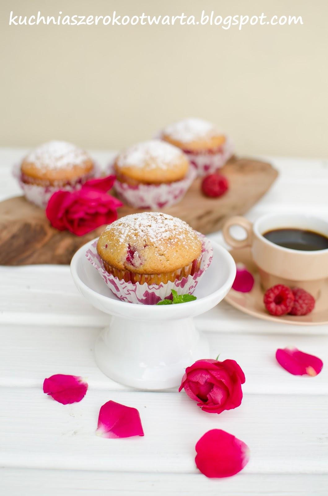Kuchnia Szeroko Otwarta Muffinki Z Malinami