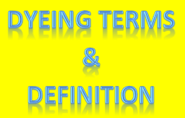dyeing terms