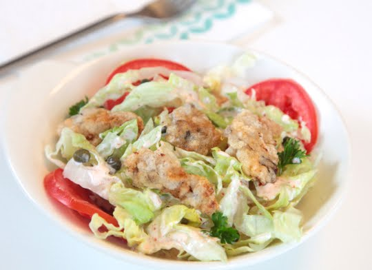 Oyster Po' Boy Salad @ Mark's Daily Apple