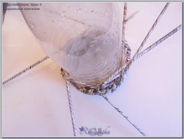 середина изделия по спирали