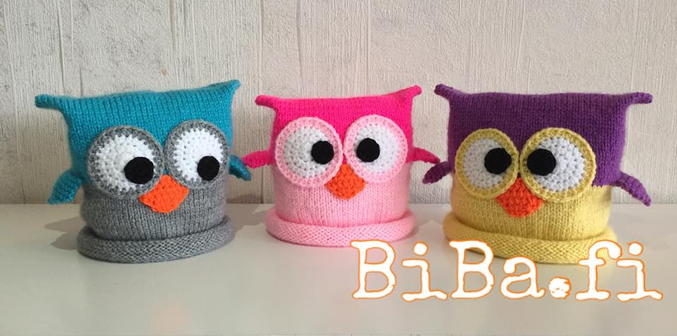 Biba Crafts Knit Crochet Owl Hat Step By Step Pattern