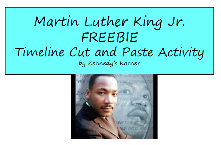 """... STUDIES LESSON - """"Martin Luther King, Jr. Timeline and Activities"""