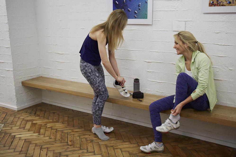 Natalie Faya Fitness Blonde at Psycle London