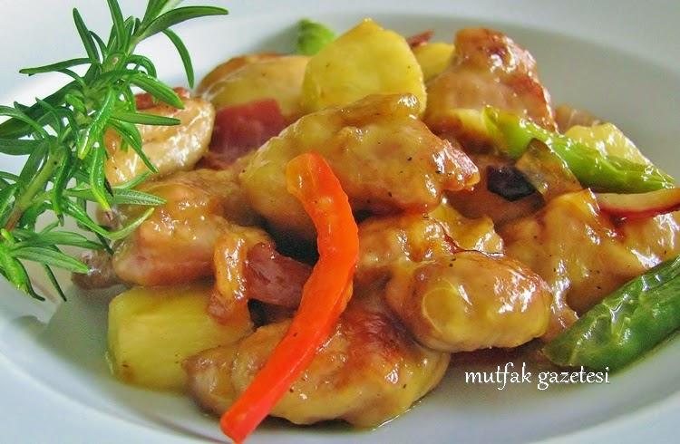 ananaslı tavuk sote