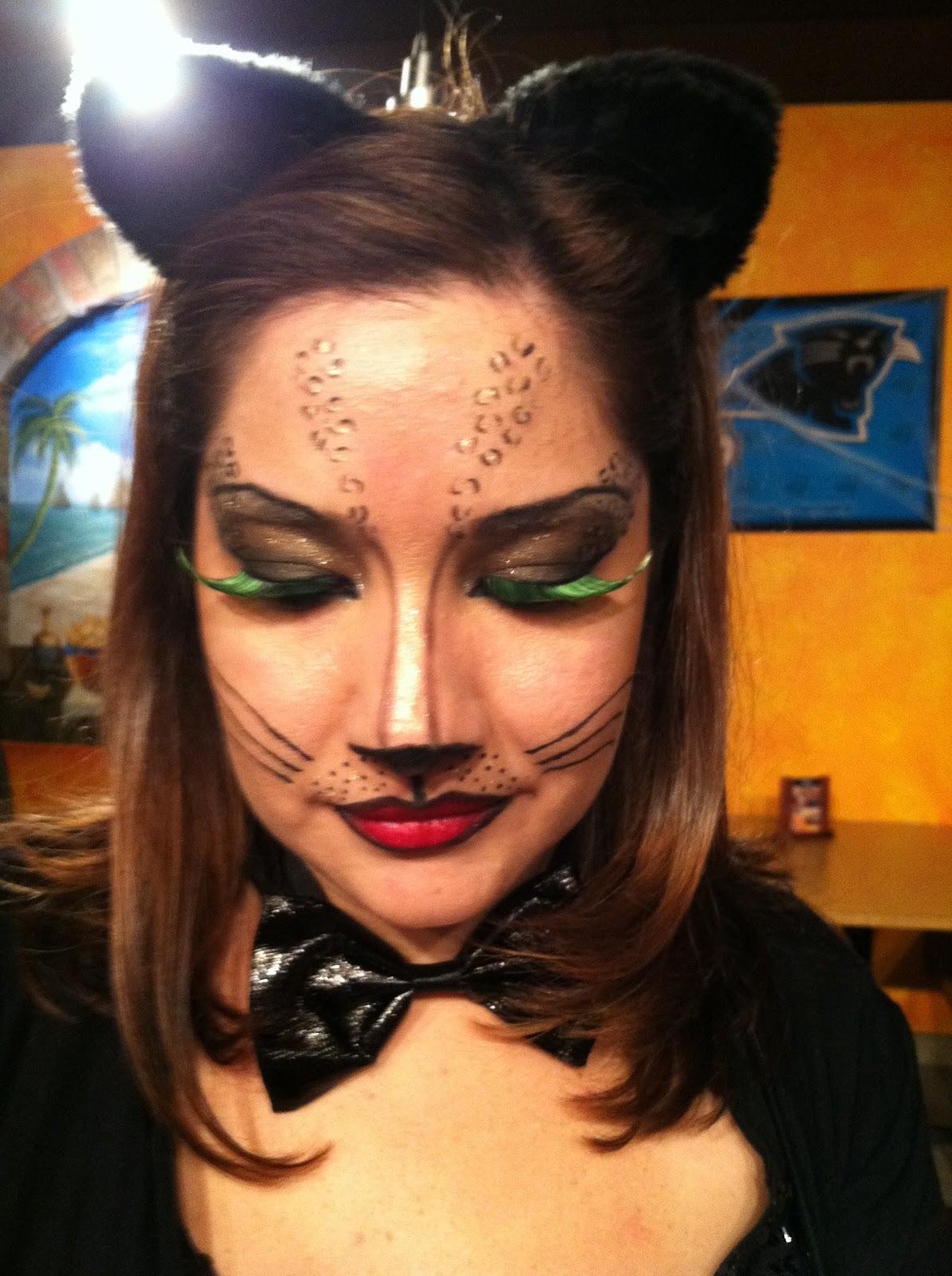 Fun Cat Face Halloween Makeup