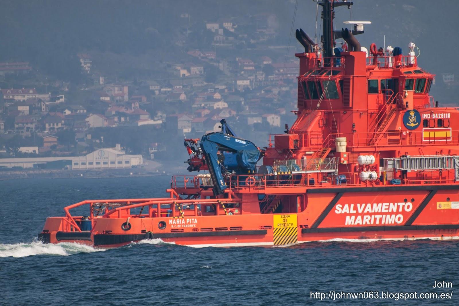 fotos de barcos, maria pita, salvamento marítimo, remolcador, vigo, imagenes de barcos