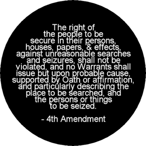the 4th amendment The 4th amendment is a restriction on the government to prevent it from doing whatever it wants regarding searches it requires a judge in most cases to sign off on a warrant allowing the police to search something.