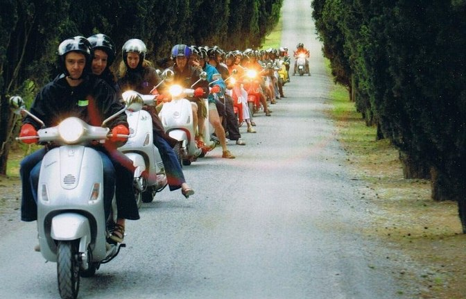 Vespa travel trip