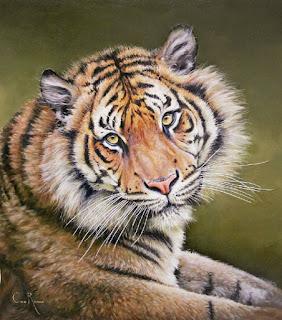 Hiperrealismo Tigre Pinturas Animales