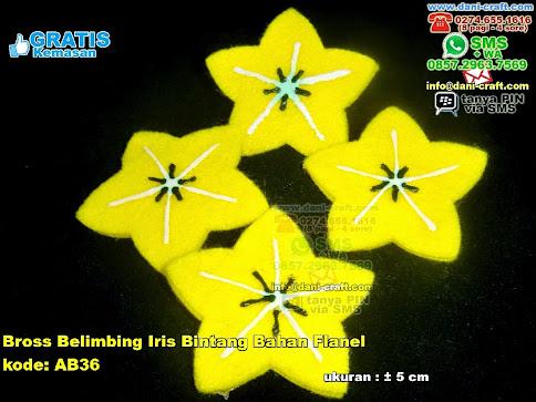 Bross Belimbing Iris Bintang Bahan Flanel Flanel
