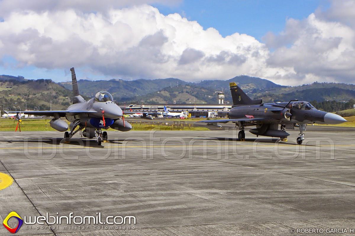 Kfir F-16 Colombia