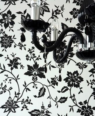 Ma maison au naturel le style baroque - Papier peint graphique noir et blanc ...