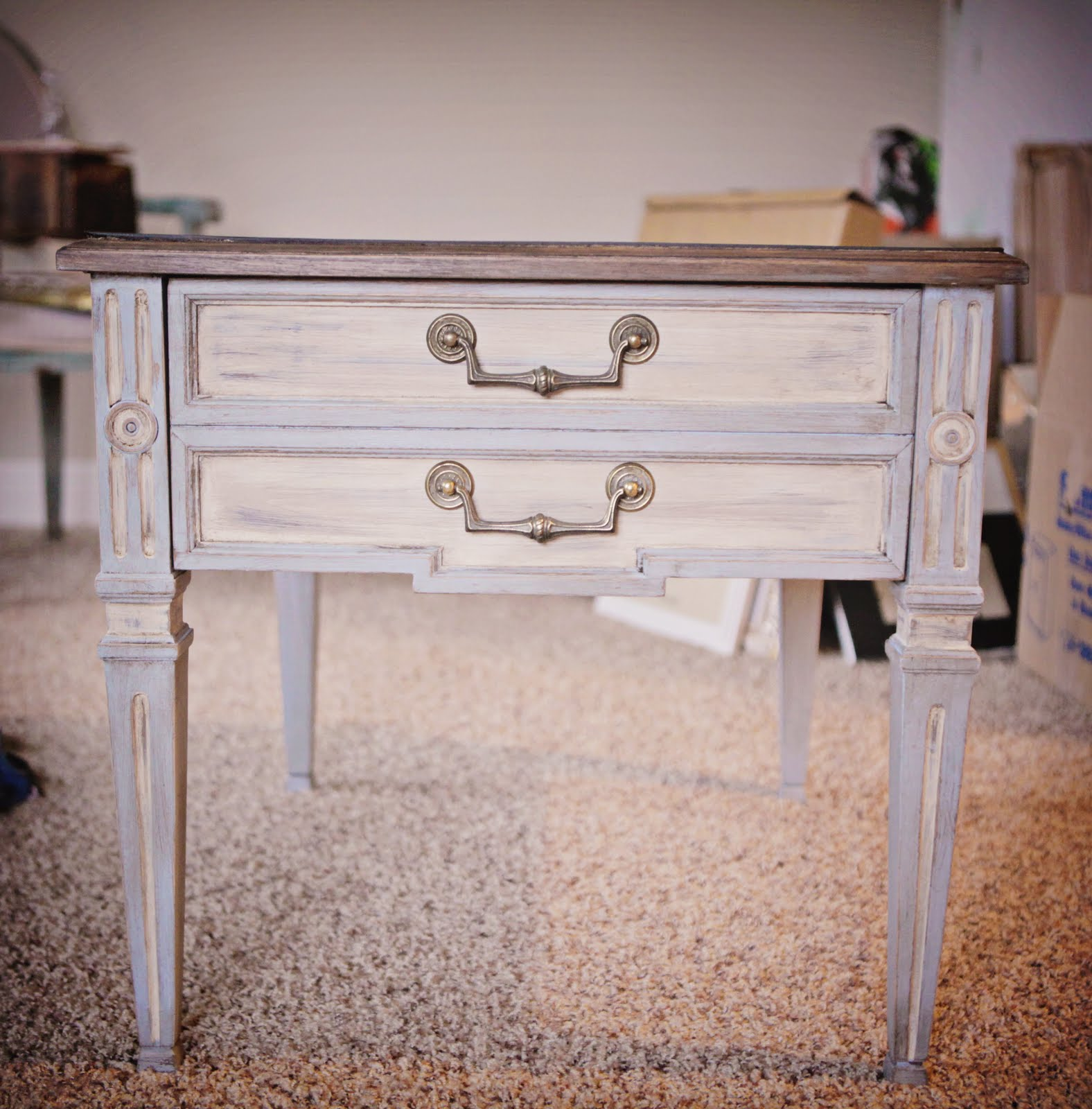 Little Place Called Home Sweet Home Annie Sloan Chalk Paint Side Tables
