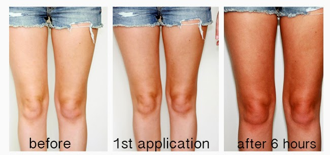 self-tanner application