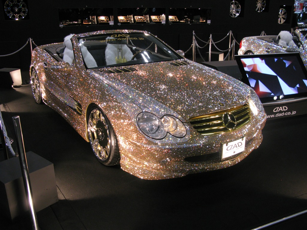 Marvelous Diamond Mercedes In Dubai | Mercedes Car With Diamond Studs