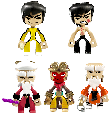 Bruce Lee's Temple of Kung Fu Series Vinyl Figures by MAD