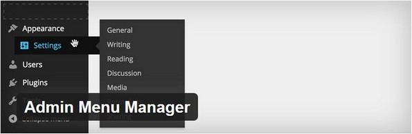 Admin Menu Manager plugin for WordPress