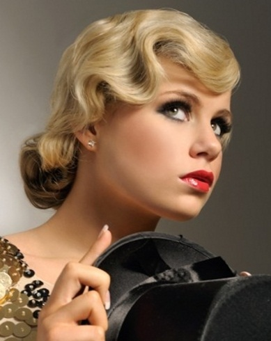 Vintage Finger Waves Updo Hair Style 2014