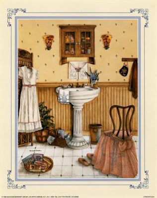 Vintage  Bathroom Artwork Prints Posters