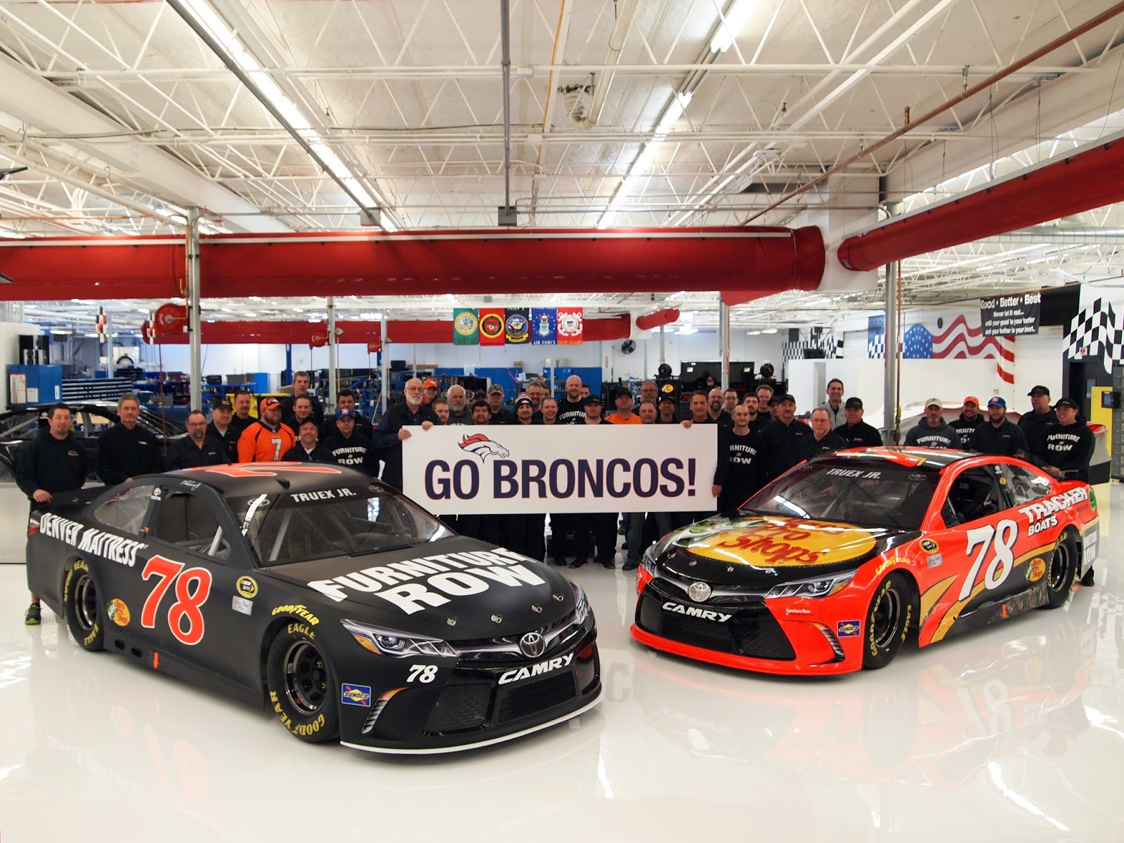 The Godfather's Blog: Furniture Row Bucks NASCAR Trend; Roots For Broncos In Super Bowl 50