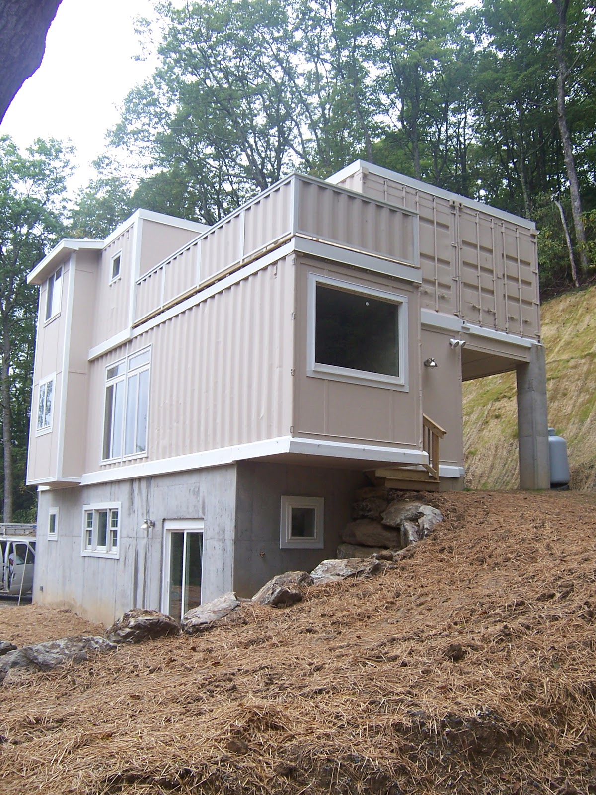 Shipping container homes high country green boxes for Building a house in nc