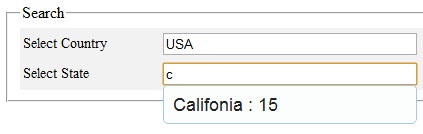 Autocomplete Country, State, City