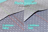 Anleitung Kappnaht flach