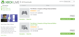 The Witcher 2 free on xbox