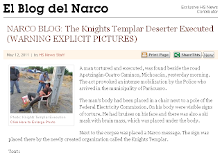 NARCO BLOG- The Knights Templar Deserter