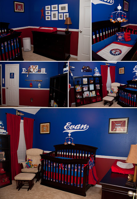 www.jarcarfam.blogspot.com - Evan's Baseball / Texas Rangers Room / Nursery Finished