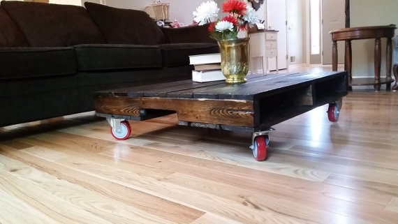 DIY Pallet Coffee Table With Caster Wheel Part 82