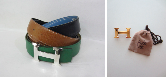 Hermes H Buckes and Reversible Leather Belts