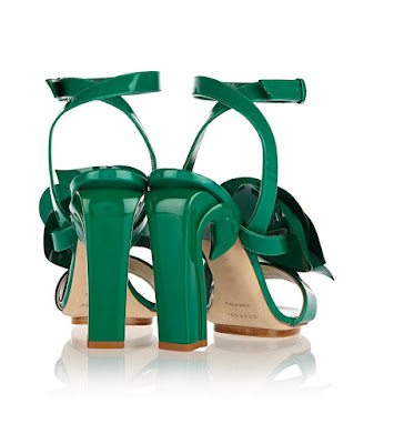 Del Pozo Green Chunky heeled sandals