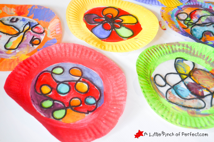plates to design and I myself really enjoyed doing this activity along with them. Each paper plate turned out stunning and unique a perfect Process Art ...  sc 1 st  A Little Pinch Of Perfect & Beautiful Stained Glass Paper Plate Craft for Kids -