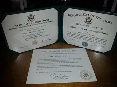 Citizen soldier sojack retirement certificates retirement certificates yadclub Gallery