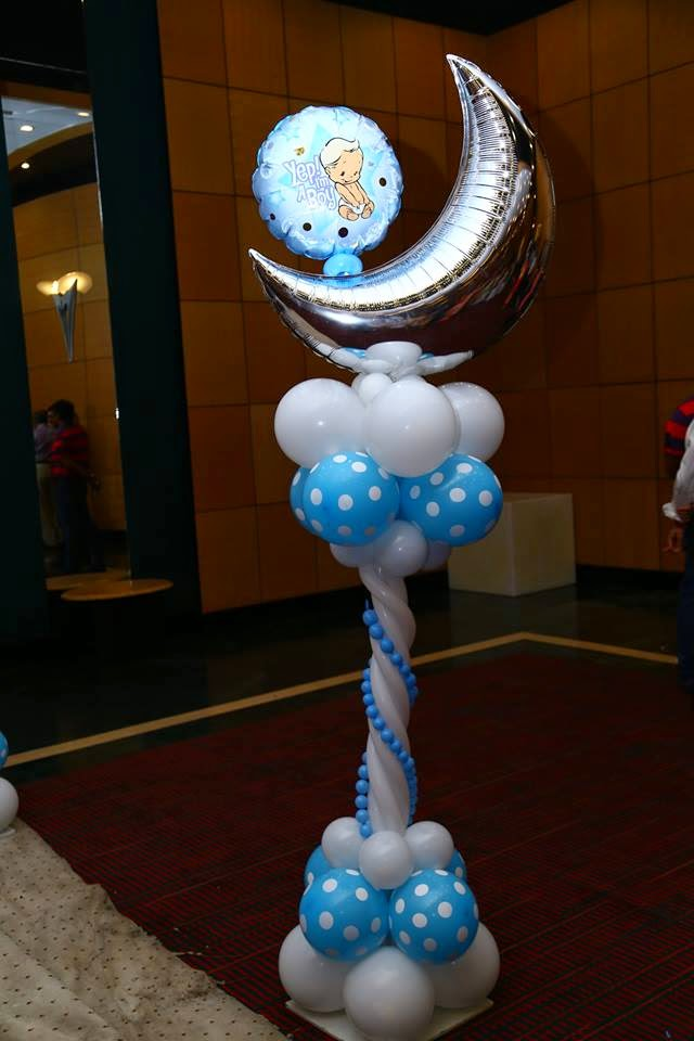 New born baby boy balloon decoration for Balloon decoration in coimbatore