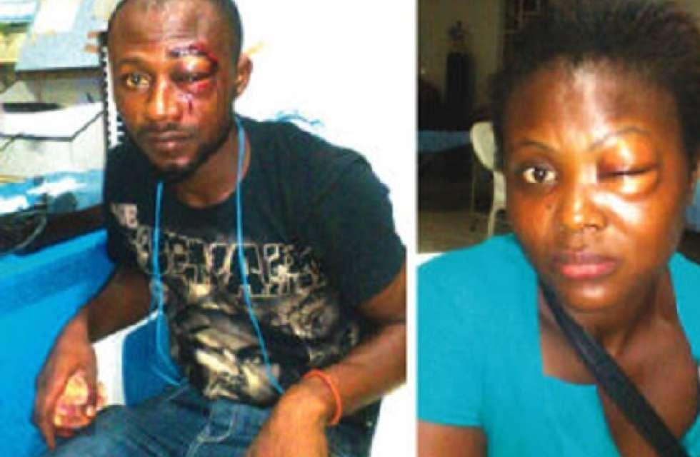 image Nigerian police couple fucks in station