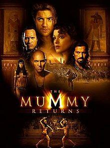 Poster Of The Mummy Returns (2001) In Hindi English Dual Audio 300MB Compressed Small Size Pc Movie Free Download Only At worldfree4u.com