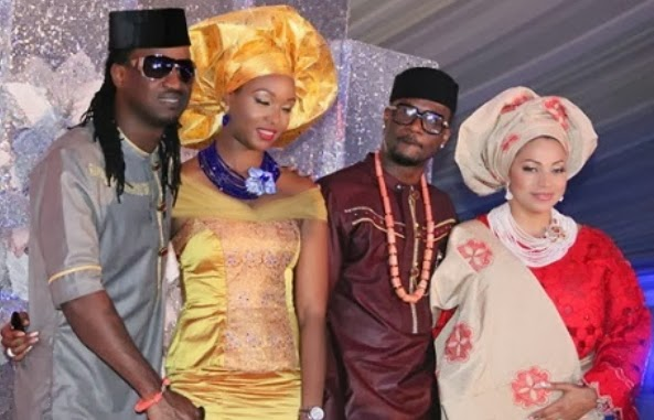 psquare white wedding