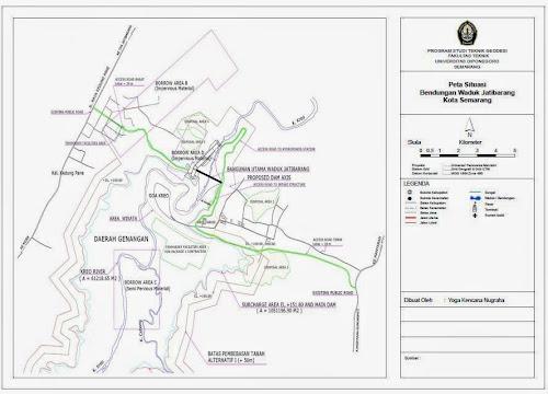 Peta Situasi Waduk Jatibarang