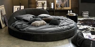 dormitorio cama circular