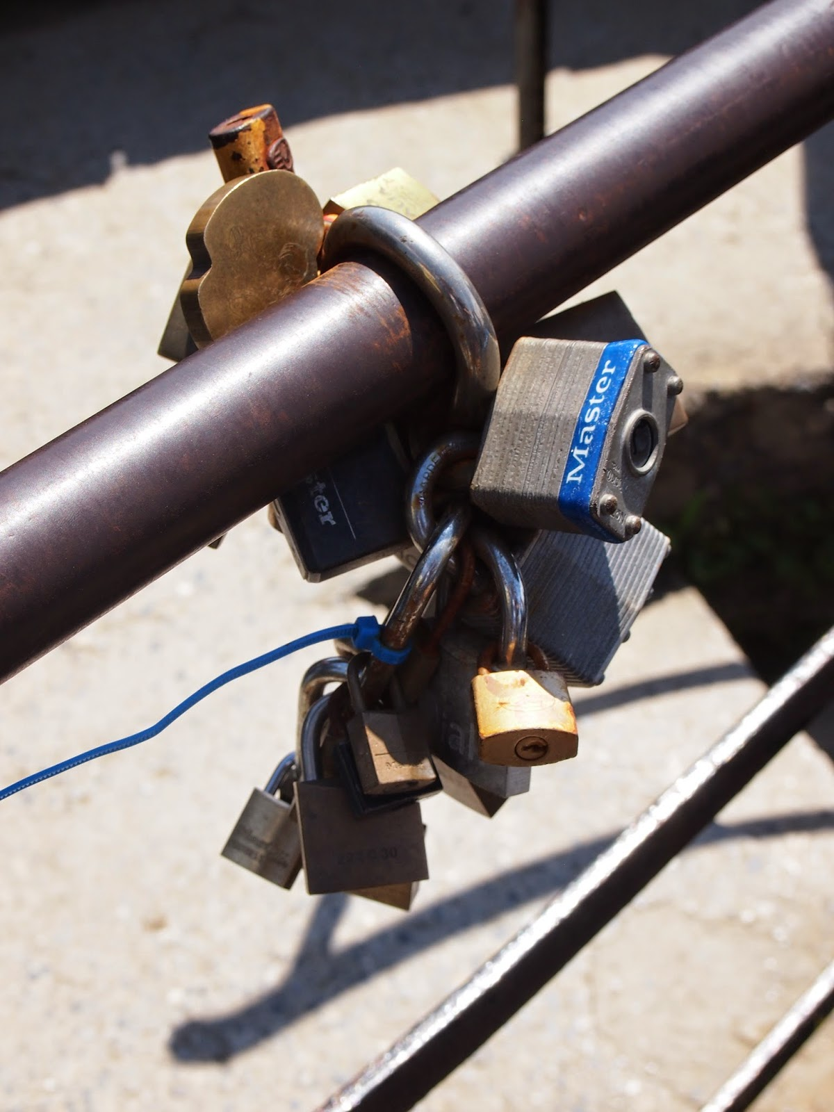 love locks in cinque terre italy